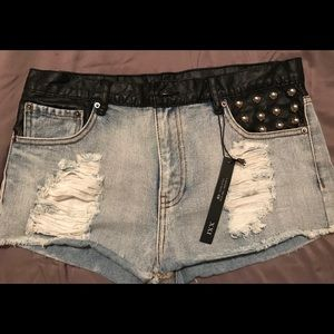 NWT Forever 21 High Rise Blue Jean Shorts